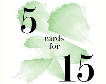 Mix & Match Cards - 5 for 15