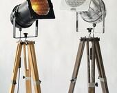 Industrial Lamp, Floor Lamp, Tripod Lamp, Adjustable Lamp, Metal Lamp, Futuristic Lighting, Photography Lamp, Boho Lighting, Studio Decor