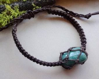 Green Jade macrame adjustable Bracelet /Healing bracelets Men everyday bracelet for best friend Money Luck jewelry