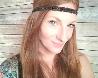 Brown Boho Headband, Hippie Headband, Boho Headband, Festival Headband, Hippie Boho Headband, Bohemian Style Accessories, Brown Headband