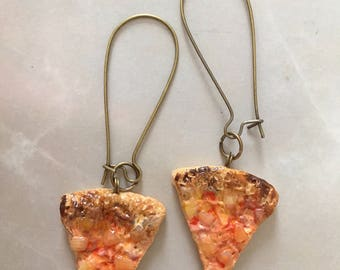 Miniature Pizza Slices (Earrings) PINEAPPLE AND HAM?!