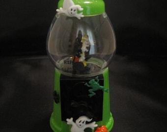 Miniature Halloween Bubblegum Machine Witch Diorama
