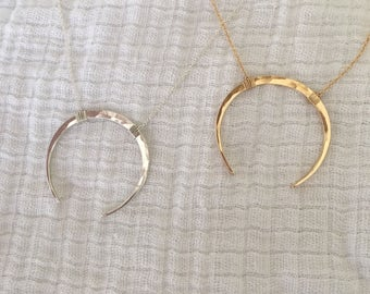 Large Crescent Necklace