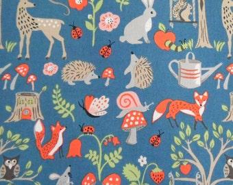 Organic crib sheets and mini crib sheets including Arms Reach, Bloom Baby, 4moms playards Blue orange fox hedgehog deer trees rabbits