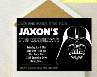 Star Wars Invitation // Star Wars Birthday Invitation // Darth Vader Invitation // Star Wars Birthday Invite // Jedi Invitation // Star Wars