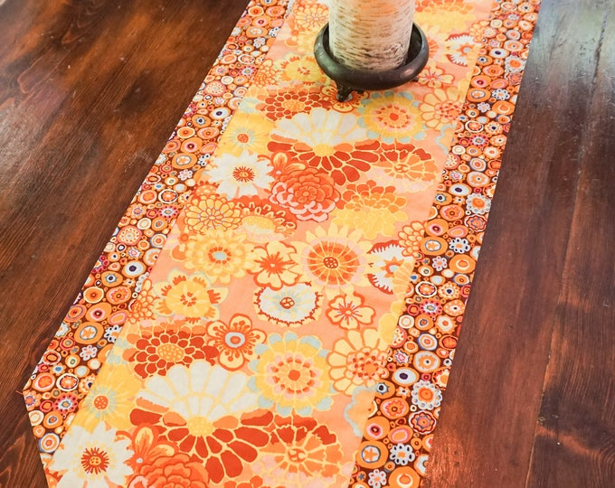 Autumn Floral Table Runner-Fall Decor-Thanksgiving Table-Boho Decor-Cottage Decor-Gift