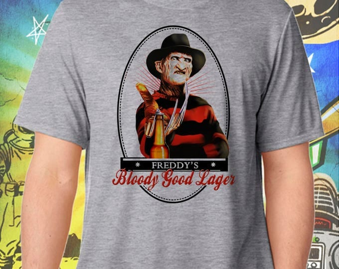 Nightmare on Elm Street / Freddy Kruger / Bloody Good Ale / Men's Gray Performance T-Shirt