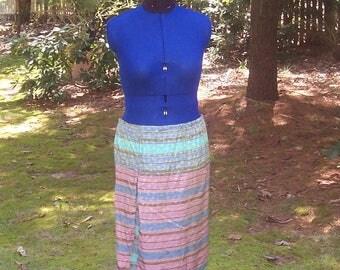 Fairy Gypsy Skirt - Upcycled from Italian Silk Scarves - Bohemian Fairy - Knee Length Skirt - Pixie Fairy Clothing - Pixie Skirt