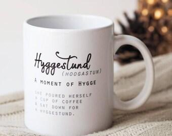 Moment of Hygge Mug - Hygge Mug - Hyggestund Mug - Coffee Mug - Tea Mug - Mug for Her - Mug for Him - Personalised Mug