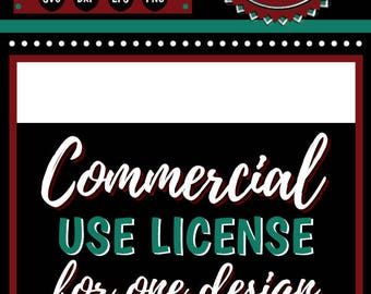 Commercial Use License for Single Design | Cutting & Printing Files | svg | eps | png | dxf | pdf | psd | ai | jpg