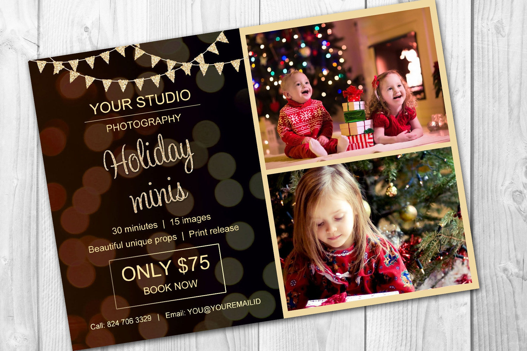 Holiday mini session template - Christmas mini session template ...