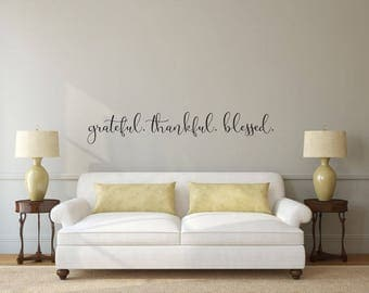 Blessed   Vinyl Decal Wall Art Decor Sticker   Home Dining Living Part 93