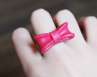 Ring knot made of polymer clay - fimo