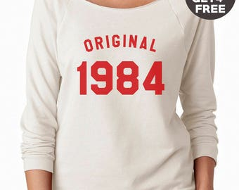 34th birthday sweatshirt 1984 sweater trendy tshirt women sweatshirt men shirt crewneck sweater graphic shirt birthday funny gift tshirt
