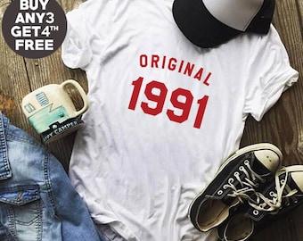 27th Birthday Gifts Tshirt 1991 Birthday Tshirt Graphic Shirt Women Tshirt Hipster Tumblr Birthday Gifts Funny Tees Men Tshirt Women Top
