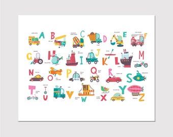 alphabet canvas art print kids canvas wall art kids wall art nursery wall