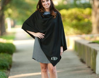Monogrammed Poncho - Embroidered Monogram Gift