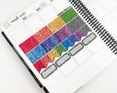 Love is Love // Glitter Header Sampler (Glossy Planner Stickers)