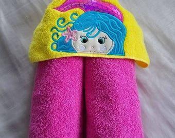 Mermaid Hooded Towel.Ready To Ship,Kids Hooded Towel,Child's Hooded Towel,Personalized Hooded Towel,Hooded Bath Towel,Hooded Beach Towel