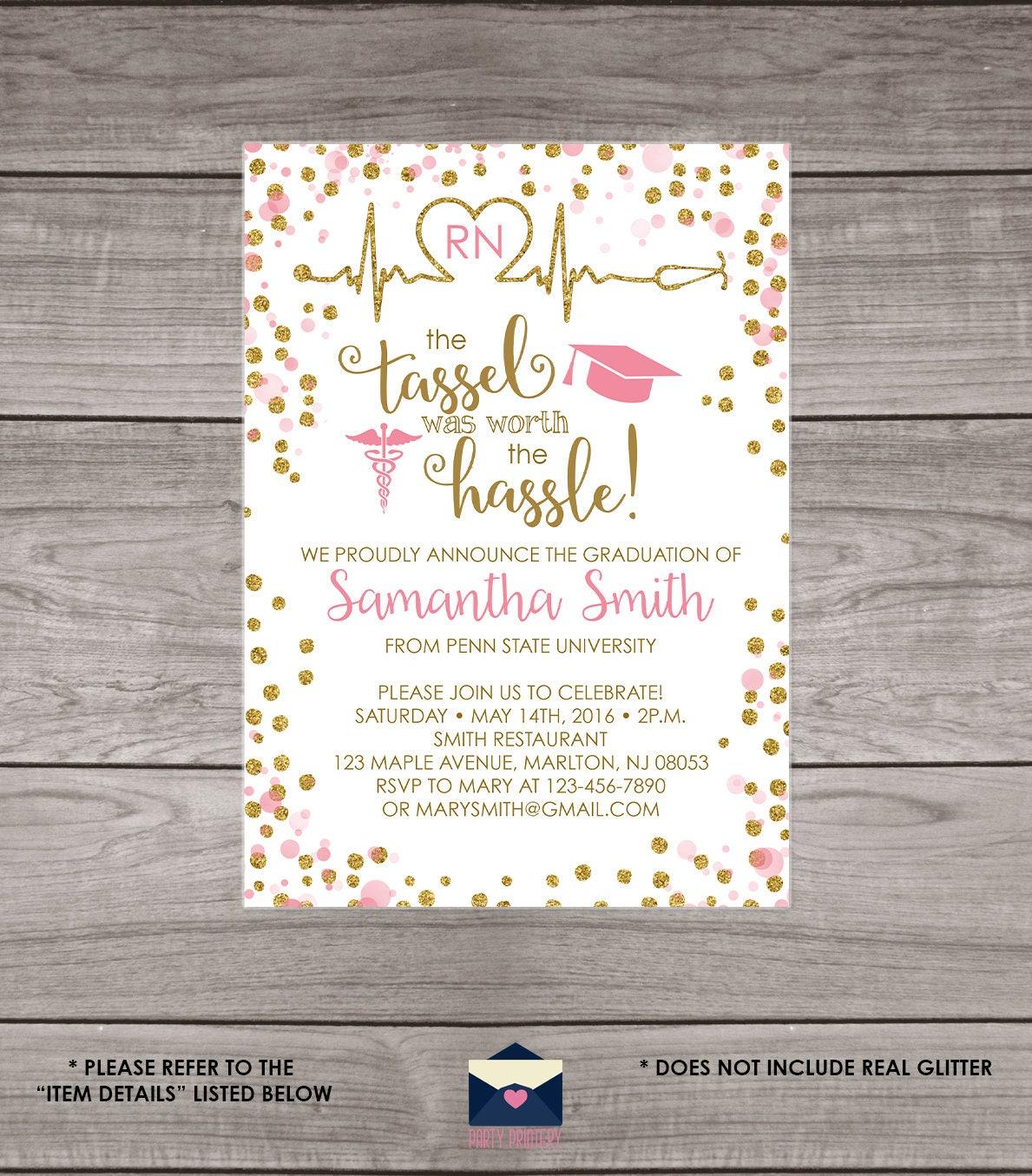 Nursing School Graduation Invitations order wedding invitations – Nursing School Graduation Invitations