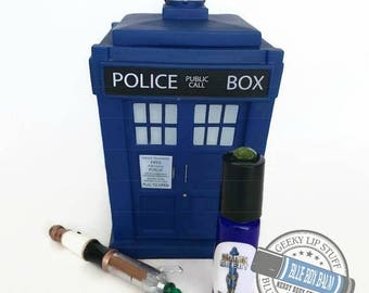 """Sonic Scent - WICKED - """"Missy"""" Doctor Who Inspired Body Scent - A complex fragrance of Patchouli & Vanilla in a Blue Glass Roller Bottle"""