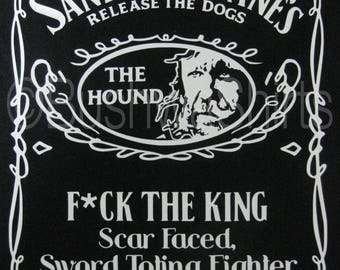 The Hound T Shirt Top Mens & Ladies Sandor Clegane Game Of Thrones Inspired