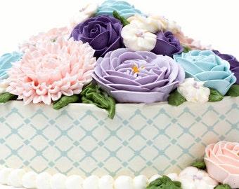 Cake Stencils- Small Diamond Pattern Stencil, Birthday Cake, Wedding Cake, Celebration Cake, Washable, Reusable, Dishwasher Safe, Food Safe