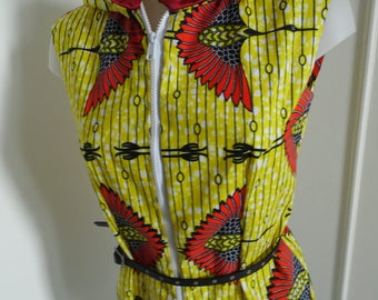 Wax bird hooded tunic size 36/38