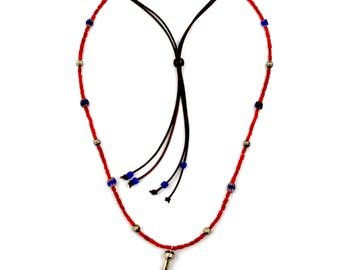 Red Coral Trade Bead Necklace by Turquoise Kingdom
