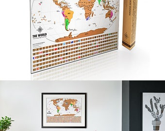 Scratch off usa map with national parks travel tracker map scratch off world map travel tracker map original map print poster with flags sciox Gallery