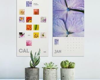 Flower Calendar 2018, Macro Photography, Photo Calendar 2018, 2018 Wall Calendar, Flower Lover Gifts, Floral Calendar