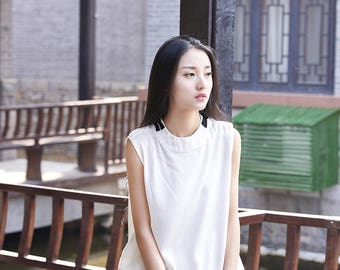 Women cotton and linen vest – Wild Casual Vest