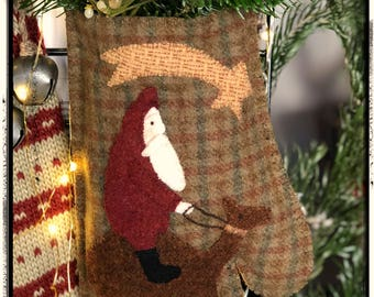 E Pattern - Christmas Mitten Stocking - Instant PDF Download