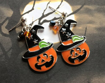 Halloween Jewelry, Halloween Earrings, Pumpkin Earrings, Halloween Gift Ideas