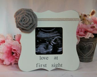 Expecting mom gift, Baby frames, Love at first sight ultrasound frame, gifts for pregnant mom gift
