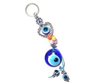 Evil Eye Keychain Heart, Evil Eye, Evil Eye Key Chain, Hamsa Keychain,  Evil Eye Hamsa (Buy 1 Get 1 FREE & FREE SHIPPING!!!)