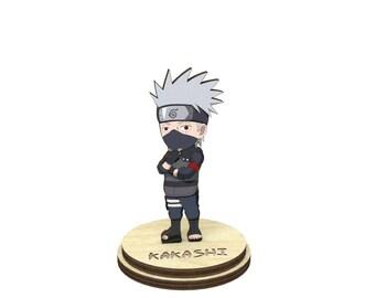 Kakashi   Naruto Wood Figurine on a stand