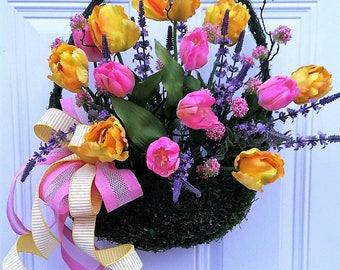Spring Door Decor - Spring Floral Door Decor - Floral Door Decor -  Spring Wreath - Spring Door Wreath - Spring Floral Wreath - Mother's Day