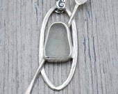 White Lake Erie Beach Glass Stand-Up Paddleboard Necklace in Sterling Silver