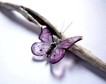 Butterfly pin Gift, Bridesmaid Brooch, pin Bridal party, Pink Butterfly wedding, pin Butterfly jewelry, Romantic Brooch Pink gift girlfriend