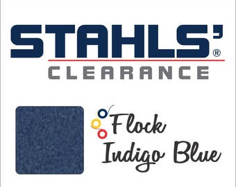 "9"" x 5 Yards - Stahls' Flock - Craft Roll - Iron-on - Heat Transfer Vinyl - HTV - Indigo Blue"