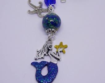 Rearview Mirror Ornament, Mermaid Ornament, Mermaid Car Accessory, Nautical Beach Decor, Rear View Mirror Charm, Mermaid Car Charm, Mermaid,