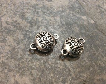 Round Filigree Connectors package of 2 perfect for long necklaces and tassel connectors