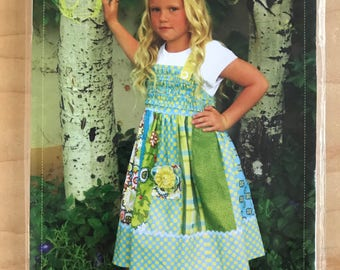 Butterfly Kisses Patterns 108 - Sunny Dress with Flared Skirt and Contrast Fabric - Size 1/2 1 2 3 4 5 6 7 8