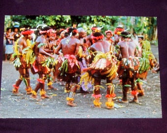 Original Colored Ethnographic Photograph of an African Dance Ceremony by Bernard Levere