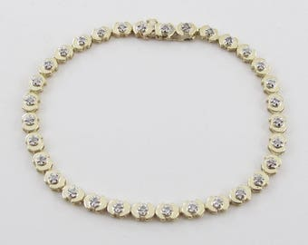 Diamond Tennis Bracelet 14k Yellow Gold 7 1/4 Inches 0.35 carat