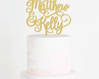 Personalized Wedding Cake Topper, Custom Name Cake Topper, Custom Cake Topper, Engagement Cake Topper, Bridal Shower Cake Topper