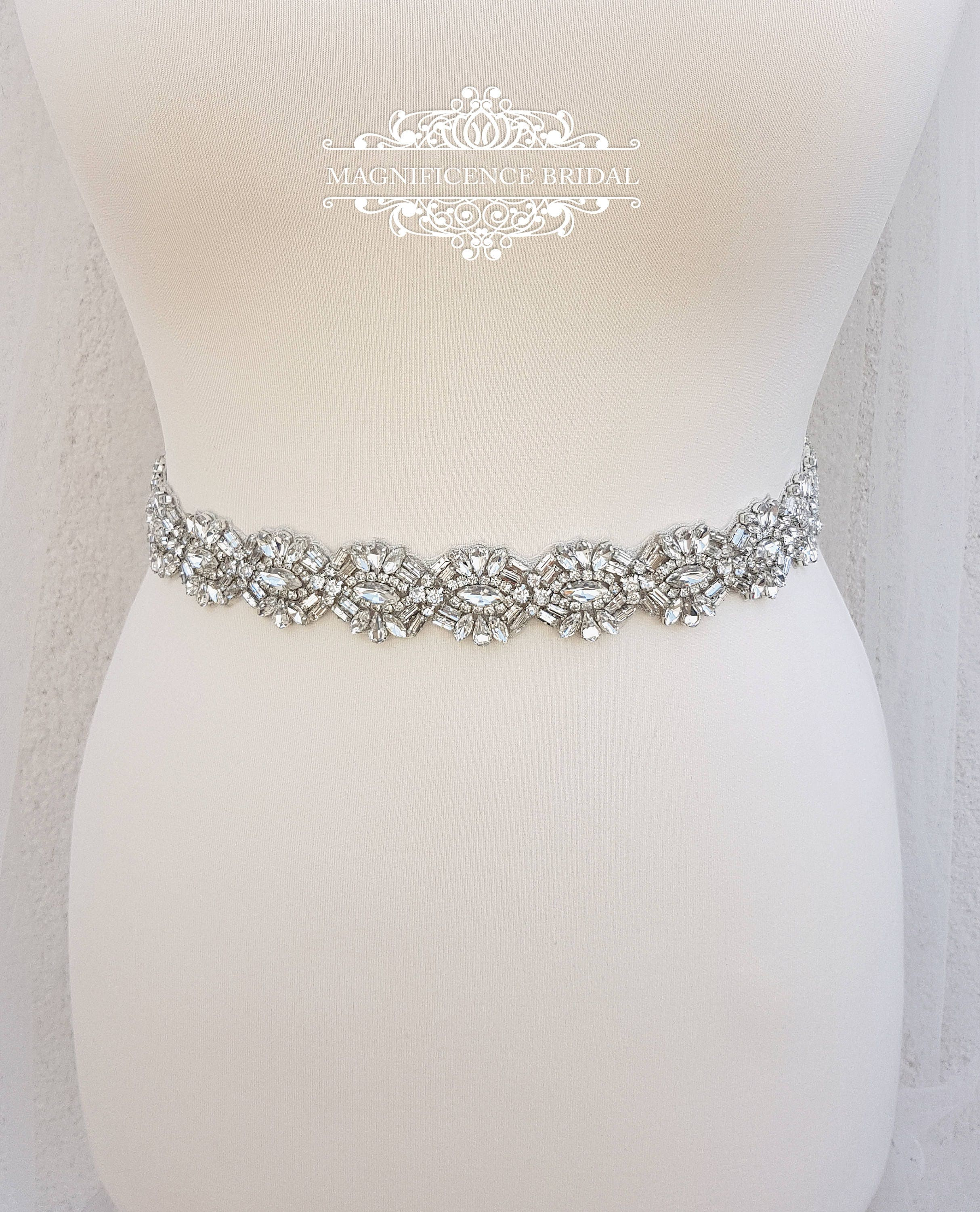 Rhinestone Dress Belts