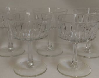Champagne Glasses, Champagne Coups , Tall Sherbets , Set of 5 (1347)