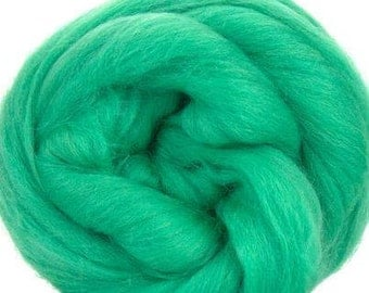 Merino Wool Combed Top/Roving - Spearmint Green